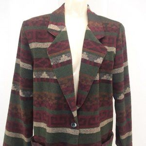 Vintage Bentley Southwest Jacket Blazer 11/12 Red